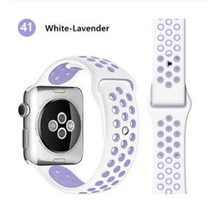 *NEW White Lavender Sport Band For Apple Watch